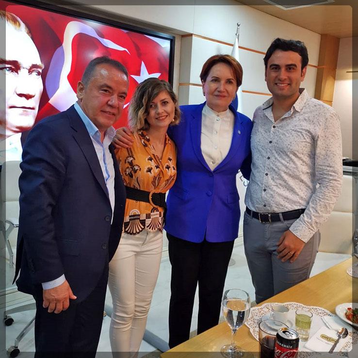 İyi Parti Başkanı Meral Akşener ve ekibi restoranımızda yemek yedi.